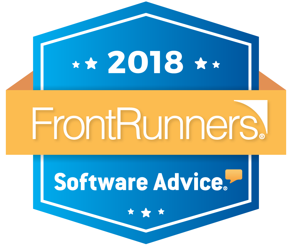 2018 software advice frontrunners badge