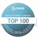 top 100 g2 crowd badge
