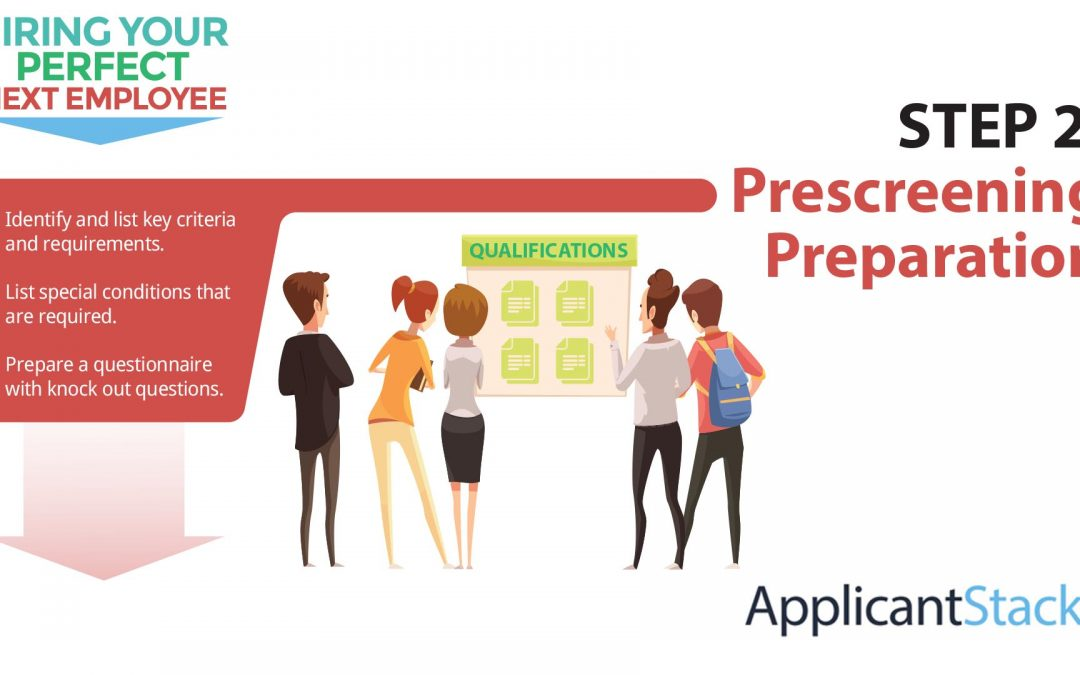 How To Hire Your Next Employee Series: How To Do Prescreening Preparation