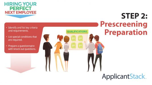 How To Hire Your Perfect Next Employee Series: How To Do Prescreening Preparation