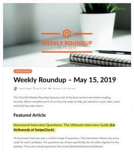 CloserIQ weekly roundup